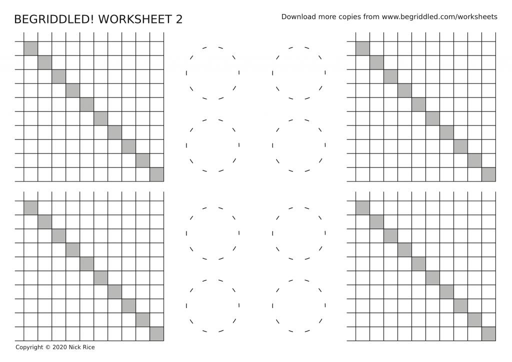 Begriddled logic puzzle worksheet 2