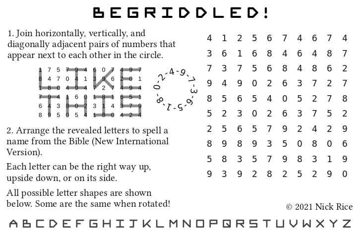 Bible name puzzle example 2